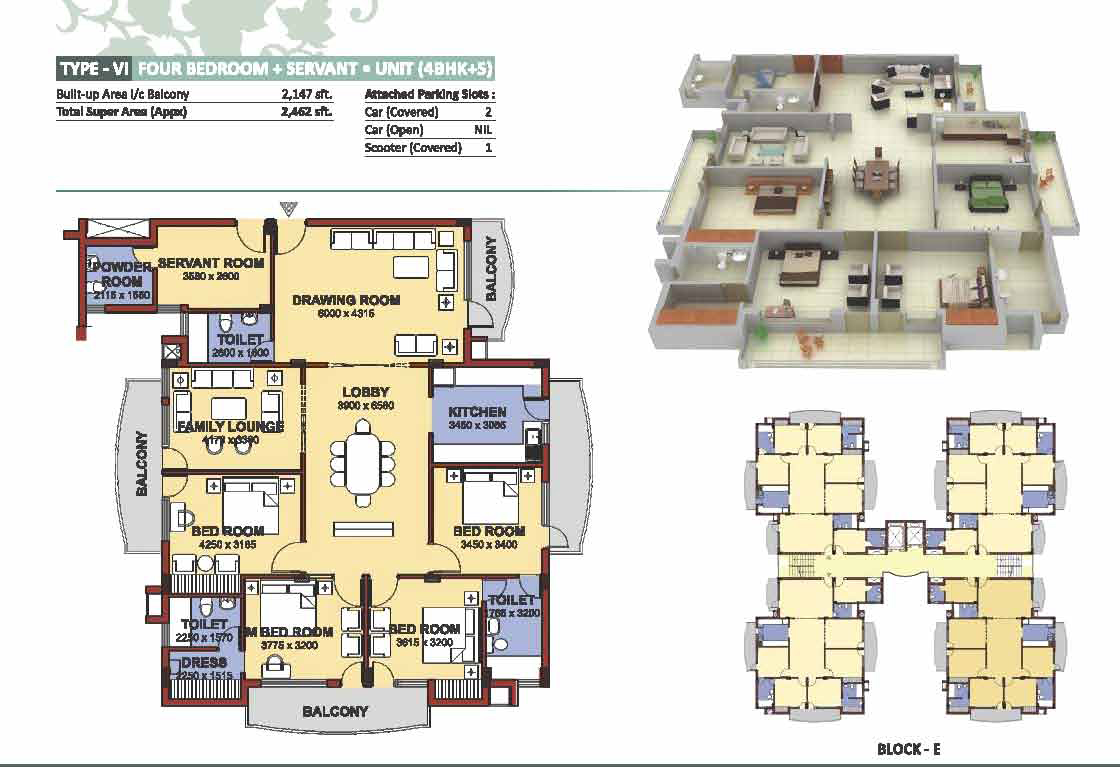 NBCC Heights Floor Plan 6